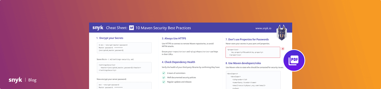 10 Maven Security Best Practices | Snyk