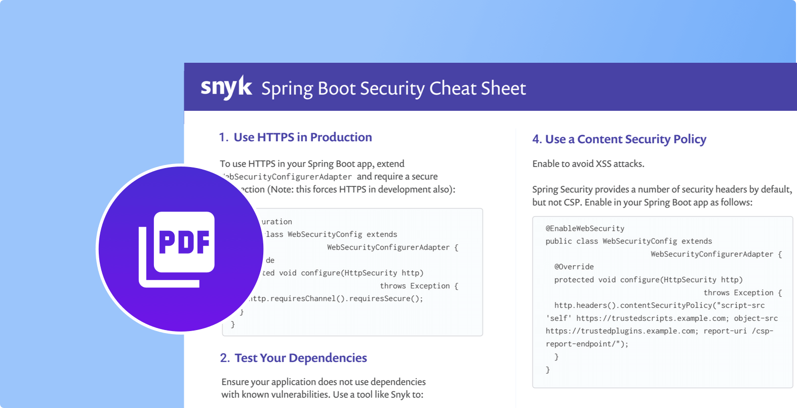 10 Spring Boot security best practices | Snyk