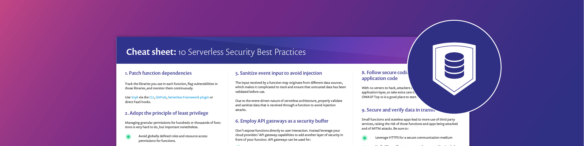 Best practices for secrets management in serverless