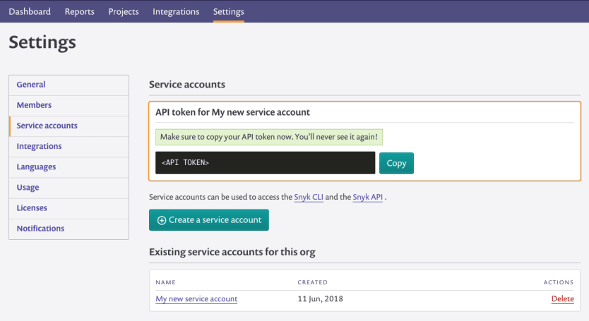 service-account-token